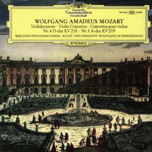 MOZART Violin Concertos 4 und 5 Wolfgang Schneiderhan Berliner Philharmoniker