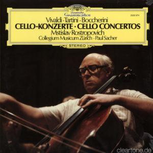 BOCCHERINI VIVALDI TARTINI Cello Concertos Mstislav Rostropovich